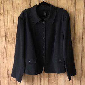 NWT Lane Bryant Plus Size Gray Button Front Jacket